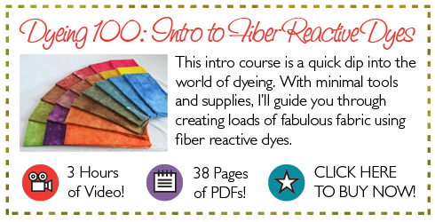 Dyeign 100 Intro to Fiber Reactive Dyes